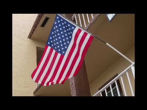 DIY $5 balcony flag mount 20 minute pvc project