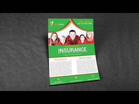 Illustrator Tutorial - Family Insurance Flyer Design