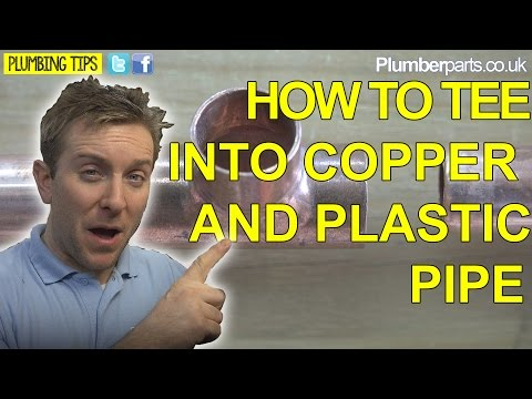 FITTING A TEE ONTO COPPER PIPE - MULTIPLE WAYS - Plumbing Tips