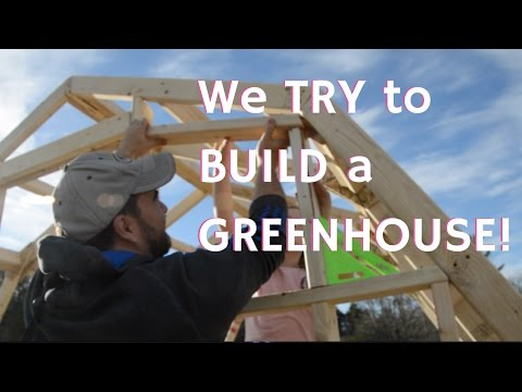 How To BUILD a GREENHOUSE from Scratch, DIY!