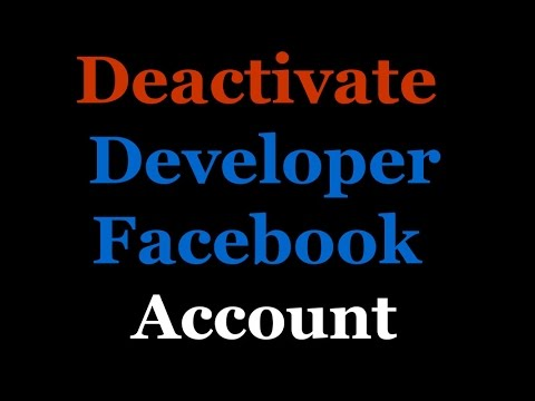 How to Deactivate Developer Facebook Account