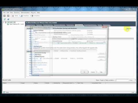 ESXi5 Video 11 - Auto Start Virtual Machines (VMs) in ESXi 5 and vSphere (Open Indiana)