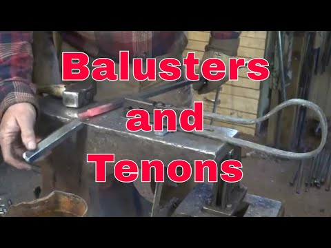 Forging Baluster and tenons for the window grill project.