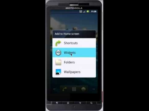 How to add widget to Android Home Screen