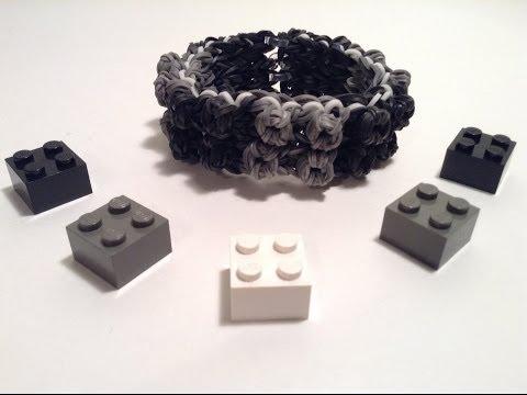 Lego Everything is Awesome Bracelet on One Loom!