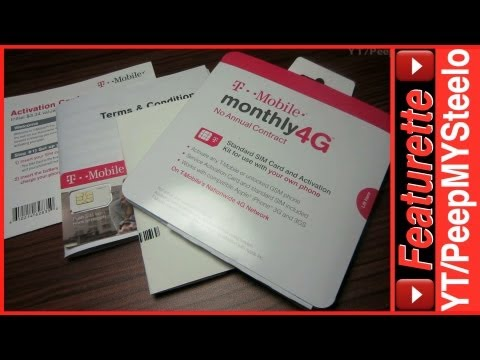 TMobile PrePaid No Contract Sim Card Activation Kit For Cheap Voice / Data Plans For 4G LTE