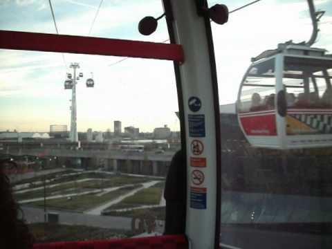 Cable car ride betweeen Excel and The O2 arena