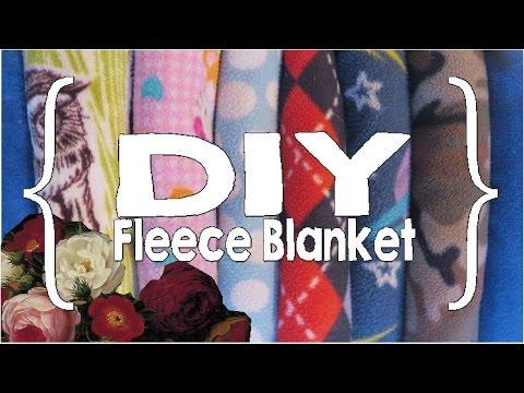 How to Sew a Fleece Blanket ║ DIY