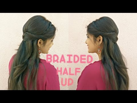 ★EASY Braided Half-up Prom Hairstyle for medium hair | DIY Quick Party Hairstyle 2017