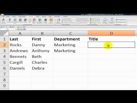 How to Select Values from a 2nd Drop-Down List in Excel