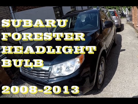 How to change replace Headlight bulb in Subaru Forester. 2008–2013