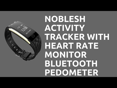 Noblesh Activity Tracker with Heart Rate Monitor Bluetooth Pedometer