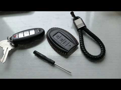 Nissan Infiniti - Key Fob Leather Pouch Case