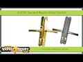 Fitting A Flexi Adjustable Door Handle To A Upvc Door
