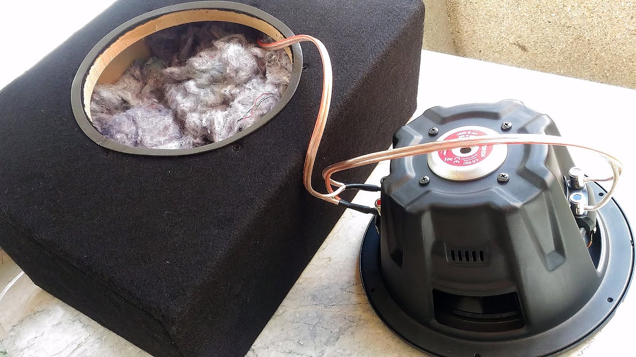 How To Make Sealed Subwoofer Box - QUICK DIY BUILD