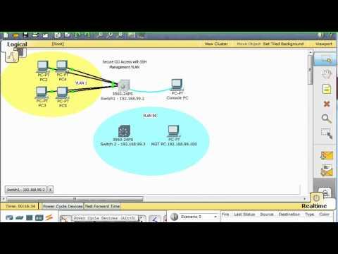 Configure a Cisco Switch for SSH access -Part 1 setup