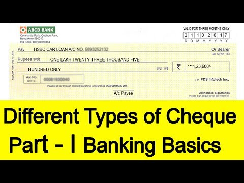 Different Types Of Cheque Explained Part - I | Tamil Banking