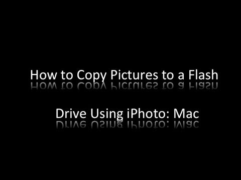 How to Copy Pictures to a Flash Drive Using iPhoto (Photos): Mac