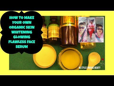 ORGANIC SKIN WHITENING GLOWING FLAWLESS FACE SERUM