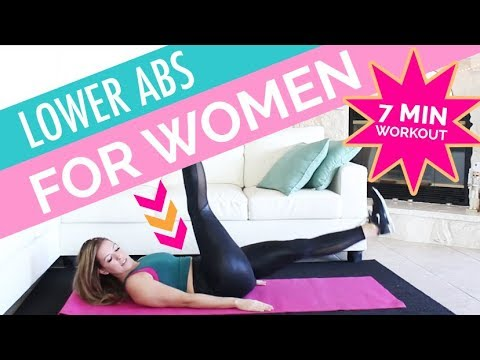 7 min Lower Ab Workout for Women | At Home NO EQUIPMENT!