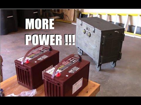 DIY 24v solar generator gets two more Trojan