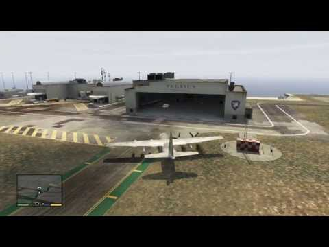 GTA V: Stealing the C-130 from Fort Zancudo Military base