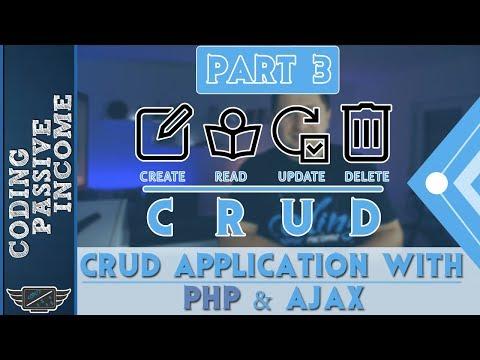 PHP Ajax CRUD Application Tutorial - MySQL & Bootstrap & jQuery DataTables  [Part 3]