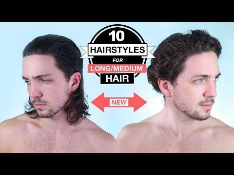 10 Hairstyles For Long/Medium Hair - Men's Long Haircut Styles