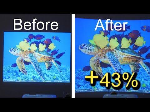 DIY Short Throw Projector