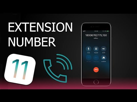 How to Call Extension Number on iPhone with iOS 11