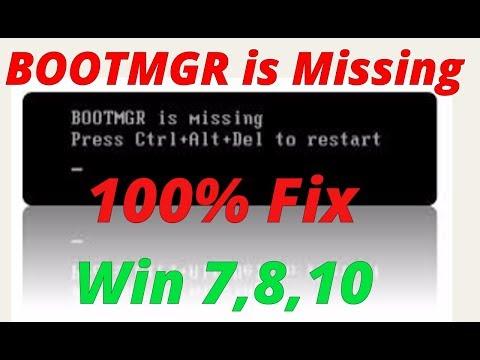 100 % fix bootmgr error Win 7,8,10