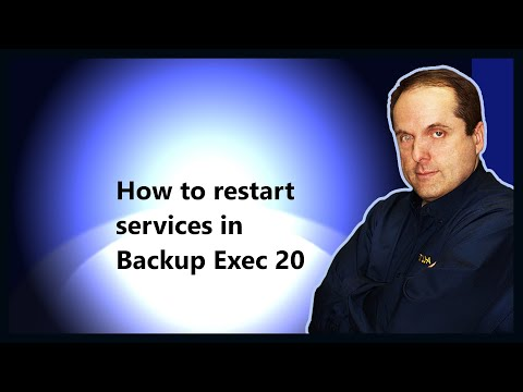 How to restart services in Backup Exec 20