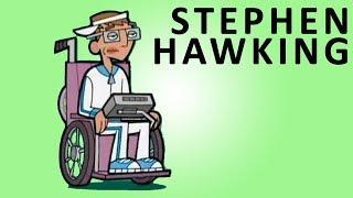 STEPHEN HAWKING AS CARTOON CHARACTER