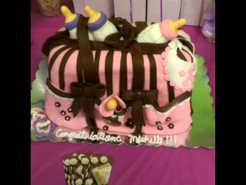 Belly and baby bag, Baby Shower cake (3D)