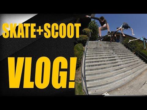 Skating Scooting Vlog with Friends - Vlog 1