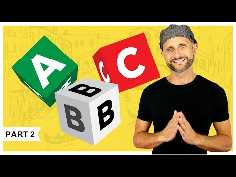 Learn the Italian Alphabet: Learn How to Spell Words in Italian [PART 2 of 3]