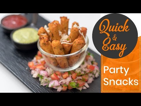 Quick & Easy Paneer Churros Recipe Party Kid's Tiffin Box Snacks पनीर चुरोस पार्टी रेसिपी