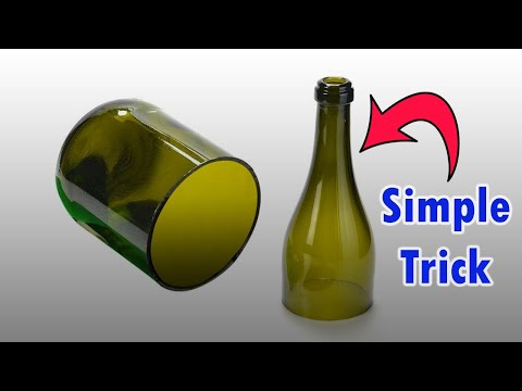 How to cut glass bottle | at home | using perfume spray | 3 simple steps | best and easiest way