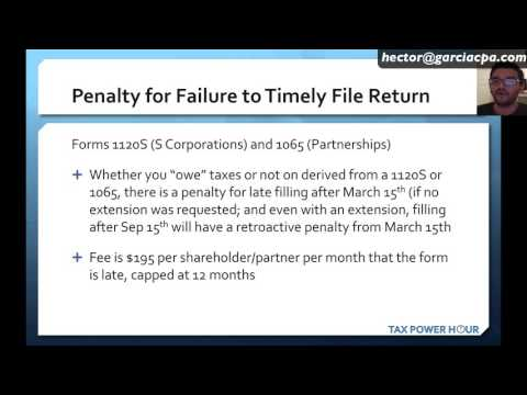 TAX POWER HOUR: IRS penalties for late filing and late payment