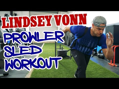 Prowler Sled Workout Routine inspired by Olympian Lindsey Vonn