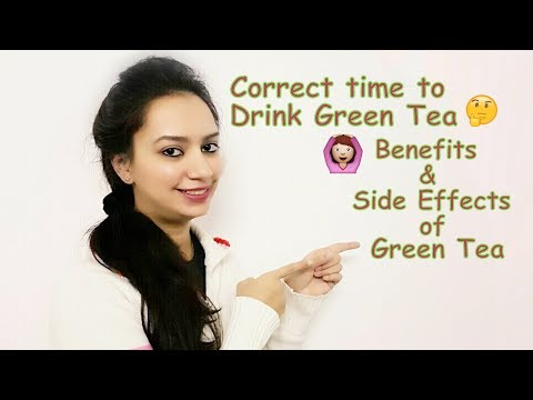 Green Tea - Benefits & Side Effects(Hindi) | Correct time to Drink Green Tea || Glad To Share