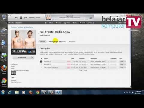 Mengakses Podcast dan Radio Internet menggunakan iTunes