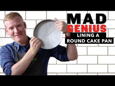 How to Line a Round Cake Pan Perfectly Every Time | Mad Genius Tips | Food & Wine