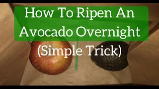 How To Ripen An Avocado Overnight Simple Trick