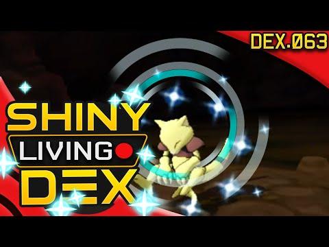 CAVE DEXNAV! SHINY ABRA!! Live Reaction! Quest For Shiny Living Dex #063 | Pokemon ORAS
