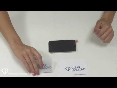 How to Apply a Clear Diamond Screen Protector without bubbles - Mobile Phones