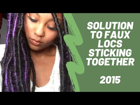 ARE YOUR FAUX LOCS STICKING TOGETHER? (SOLUTION) | MEEKFRO