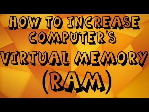 How To Increase Computer VIRTUAL MEMORY OR RAM