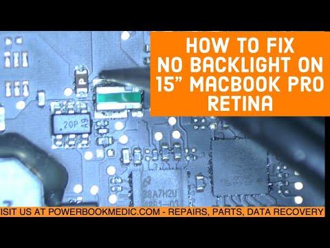 Macbook Pro No Backlight Repair on an A1398 2013 15