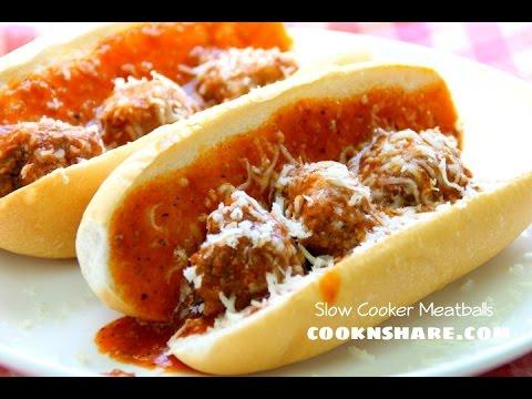 Subway Slow Cooker Meatballs - Crock Pot Series Episode 8